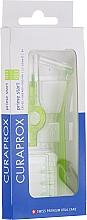 "Fragrances, Perfumes, Cosmetics Interdental Brush Set ""Prime Start"", CPS 011, 2 holders, green - Curaprox"