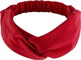 "Fragrances, Perfumes, Cosmetics Headband, Knit Cross, red, ""Knit Twist"" - MakeUp Hair Accessories"