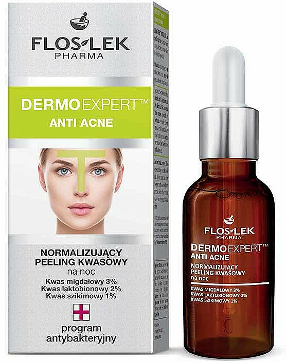 Normilizing Night Peeling - Floslek Dermo Expert Anti Acne Peeling