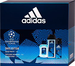 Fragrances, Perfumes, Cosmetics Adidas UEFA Dare Edition - Set (sh/gel/250ml + deo/spray/150ml + edt/100ml)