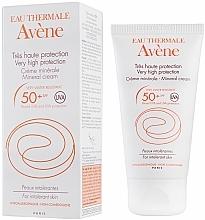 Fragrances, Perfumes, Cosmetics Mineral Sunscreen Cream - Avene Solaires Mineral Cream SPF 50+