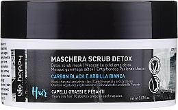 Fragrances, Perfumes, Cosmetics Hair Scrub Mask - Bio Happy Carbon Black & White Clay Scrub Mask