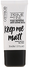 Fragrances, Perfumes, Cosmetics Soothing Makeup Base - Catrice Prime And Fine Pore Refining Anti-Shine
