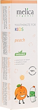 "Fragrances, Perfumes, Cosmetics Kids Toothpaste ""Peach"" - Melica Organic Toothpaste For Kids Peach"