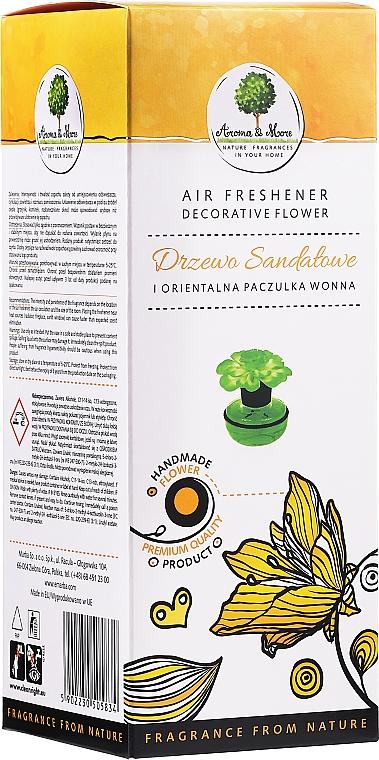 Sandal & Patchouli Air Freshener Flower - Aroma & More Air Freshener — photo N1