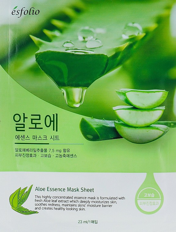 """Sheet Mask """"Aloe Vera Extract"""" - Esfolio Aloe Essence Mask Sheet"""