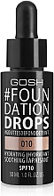 Fragrances, Perfumes, Cosmetics Foundation - Gosh Foundation Drops SPF10
