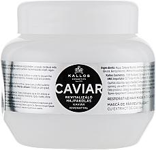 Fragrances, Perfumes, Cosmetics Repair Black Caviar Extract Hair Mask - Kallos Cosmetics Anti-Age Hair Mask