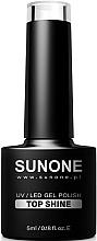 Fragrances, Perfumes, Cosmetics Gel Polish Top Coat - Sunone UV/LED Gel Polish Top Shine
