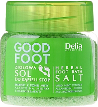 Fragrances, Perfumes, Cosmetics Foot Salt - Delia Cosmetics Good Foot Herbal Foot Bath Salt