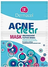 Fragrances, Perfumes, Cosmetics Soothing Mask for Oily, Combination and Problem Prone Skin - Dermacol Acne Clear Mask