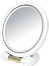 Fragrances, Perfumes, Cosmetics Double-Sided Round Stand Mirror, white, 18,5 cm - Donegal Mirror
