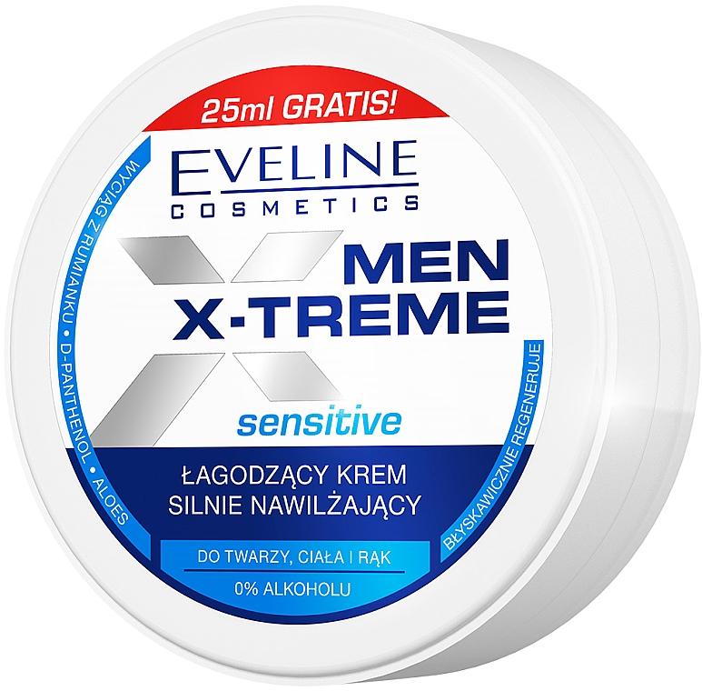 Soothing Ultra-Moisturizing Face, Hand & Body Cream - Eveline Cosmetics Men X-Treme Sensitive Cream