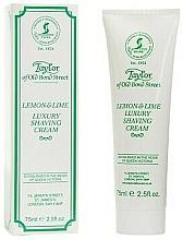 """Fragrances, Perfumes, Cosmetics Shaving Cream """"Lemon & Lime"""" - Taylor of Old Bond Street Lemon&Lime Luxury Shaving Cream (in tube)"""