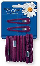 Fragrances, Perfumes, Cosmetics Hair Clips & Hair Elastic Bands, burgundy 2+12 pcs - Top Choice