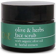 Fragrances, Perfumes, Cosmetics Olive Oil & Herbal Extracts Face Scrub - Yellow Rose Olive & Herbs Face Scrub