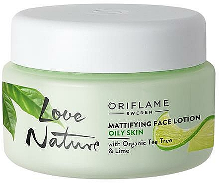 Matte Face Balm with Organic Tea Tree and Lime - Oriflame Love Nature Mattifyng Face Lotion
