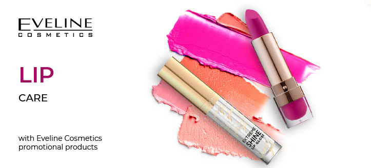 5% off on chosen Eveline Cosmetics Lip Care products. Discount included into website prices.