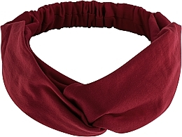"Fragrances, Perfumes, Cosmetics Headband, Knit Cross, burgundy, ""Knit Twist"" - MakeUp Hair Accessories"
