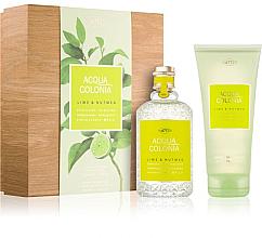 Fragrances, Perfumes, Cosmetics Maurer & Wirtz 4711 Aqua Colognia Lime & Nutmeg - Set (col 170ml +sh/gel/200ml)