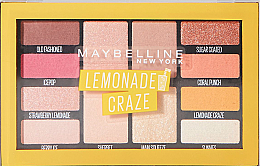 Fragrances, Perfumes, Cosmetics 12 Eyeshadow Palette - Maybelline Lemonade Craze Palette