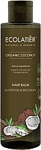 "Fragrances, Perfumes, Cosmetics Hair Balm ""Nutrition and Recovery"" - Ecolatier Organic Coconut Hair Balm"