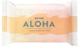 Fragrances, Perfumes, Cosmetics Natural Soap - Oh!Tomi Aloha Peach Hibiscus Soap