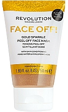 Fragrances, Perfumes, Cosmetics Peel Off Face Mask - Revolution Skincare Face Off! Gold Glitter Face Off Mask