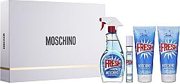 Fragrances, Perfumes, Cosmetics Moschino Fresh Couture - Set (edt/100ml + edt/10ml + b/lot/100ml + sh/gel/100ml)