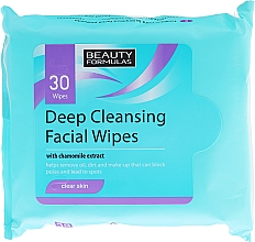 Fragrances, Perfumes, Cosmetics Facial Cleansing Wipes - Beauty Formulas Deep Cleansing Facial Wipes