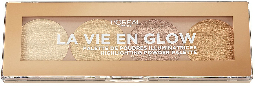 Highlighter Palette - L'Oreal Paris La Vie En Glow Highlighting Powder Palette