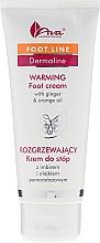 Fragrances, Perfumes, Cosmetics Foot Cream with Ginger Extract and Orange Oil - Ava Laboratorium Dermoprogram Warming Foot Cream