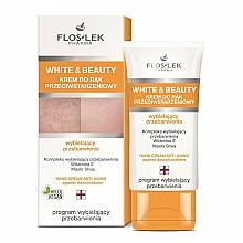 Fragrances, Perfumes, Cosmetics Whitening Hand Cream - Floslek White & Beauty Anti-Aging Hand Cream
