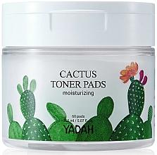 Fragrances, Perfumes, Cosmetics Moisturizing Facial Wipes with Cactus - Yadah Cactus Moisturizing Toner Pads