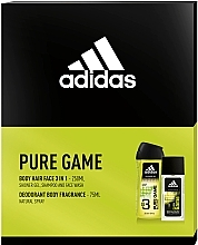 Fragrances, Perfumes, Cosmetics Adidas Pure Game - Set (edc/75ml + sh/gel/250ml)