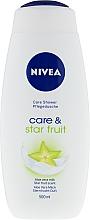 Fragrances, Perfumes, Cosmetics Shower Cream-Gel - Nivea Care & Star Fruit Shower Gel