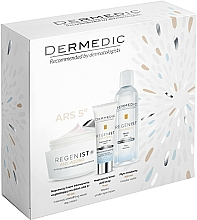 Fragrances, Perfumes, Cosmetics Set - Dermedic Regenist Anti-Ageing Ars 5 (f/cr/50ml + eye/cr/7ml + micel/100ml)