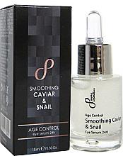 Fragrances, Perfumes, Cosmetics Regenerating Eye Serum - Sayaz Cosmetics Age Control Smoothing Caviar & Snail Eye Serum 24H