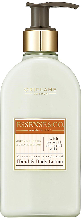 Green Tangerine and Orange Blossom Hand and Body Lotion - Oriflame Essense & Co.
