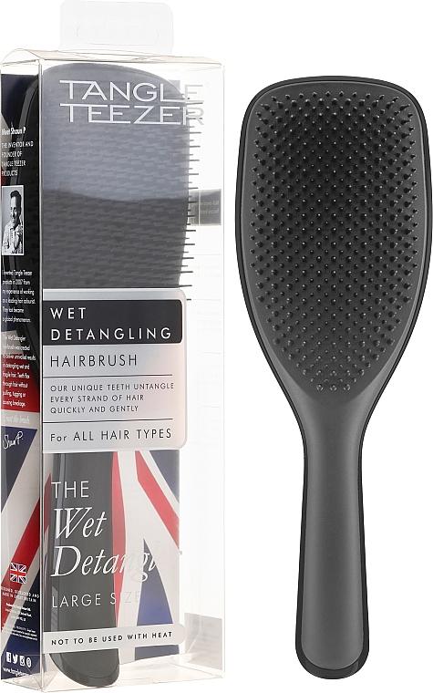 Large Hair Brush, black - Tangle Teezer The Wet Detangler Black Gloss Large Size Hairbrush