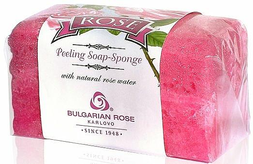 Peeling Soap-Sponge - Bulgarian Rose Peeling Soap-Sponge