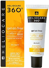 Fragrances, Perfumes, Cosmetics Sunscreen Gel - Cantabria Labs Heliocare 360 Gel Oil-Free Dry Touch