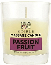 Fragrances, Perfumes, Cosmetics Natural Massage Passion Fruit Candle - Sezmar Collection Passion Fruit