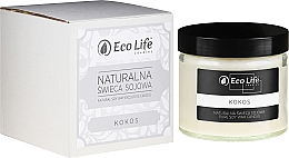 """Fragrances, Perfumes, Cosmetics Scented Candle """"Coconut"""" - Eco Life Candles"""