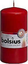 Fragrances, Perfumes, Cosmetics Cylindrical Candle, Red, 120x60 mm - Bolsius Candle