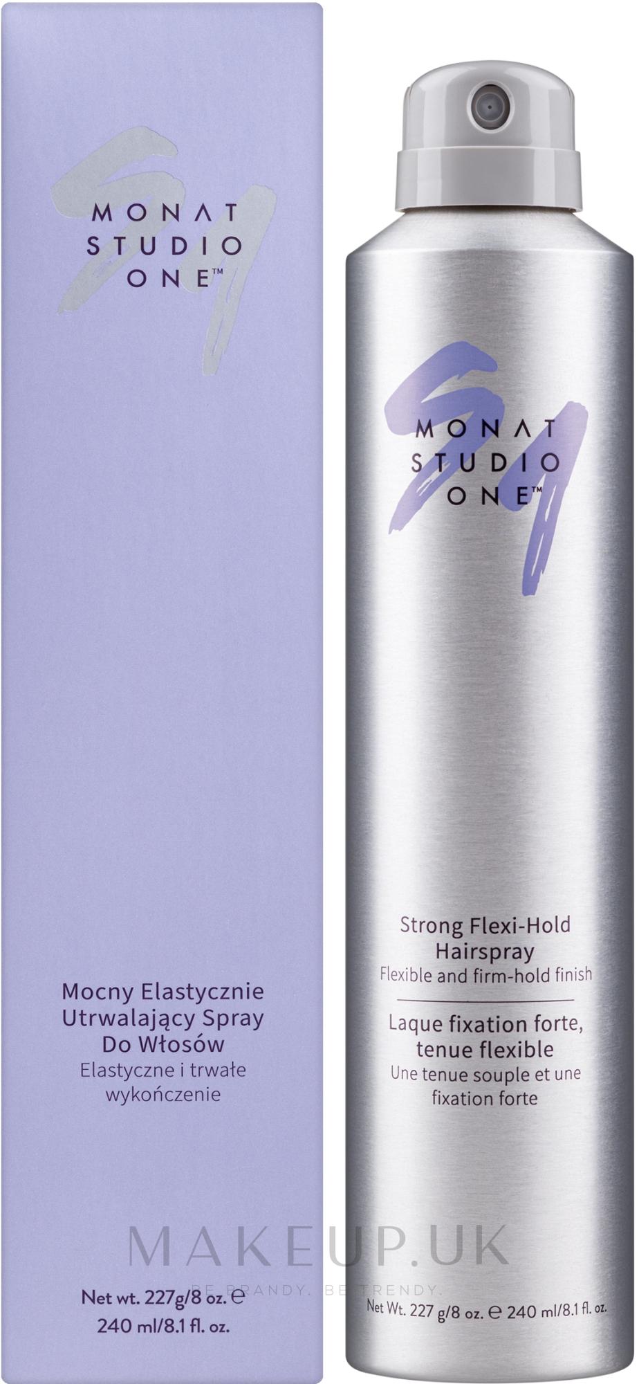 Strong Flexi-Hold Hairspray - Monat Studio One Strong Flexi-Hold Hairspray — photo 240 ml