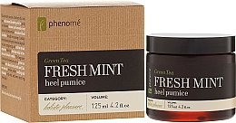 Fragrances, Perfumes, Cosmetics Pumice Stone - Phenome Green Tea Fresh Mint Heel Pumice
