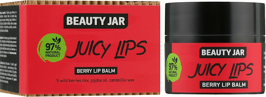 "Berry Lip Balm ""Juicy Lips"" - Beauty Jar Berry Lip Balm"
