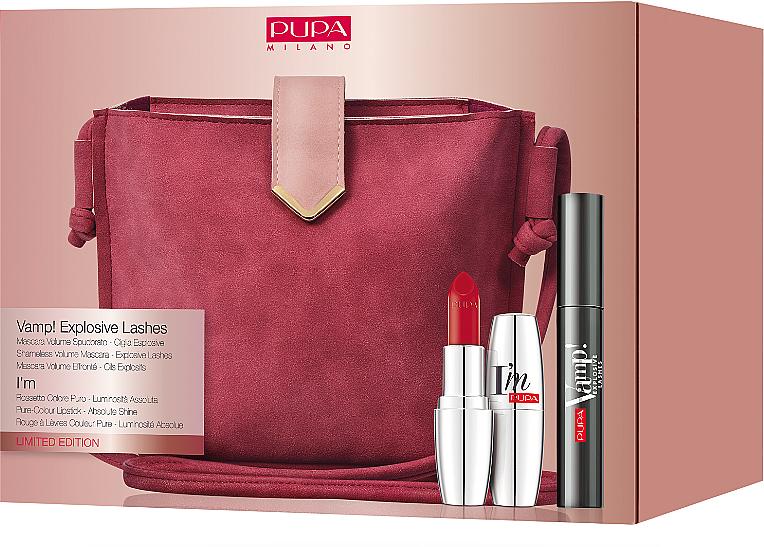 Set - Pupa Vamp! Mascara Explosive & I'm Lipstick (mascara/12ml + lipstick/3.5g + bag) — photo N2