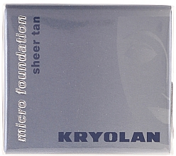 Fragrances, Perfumes, Cosmetics Waterproof Foundation Mousse - Kryolan HD Micro Foundation Sheer Tan